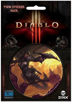 "Diablo III 3"" Round Sticker 2-Pack: Demon Hunter Class"