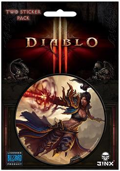 "Diablo III 3"" Round Sticker 2-Pack: Wizard Class"