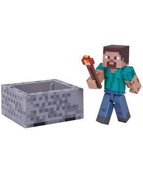 "Minecraft 3"" Action Figure: Steve with Minecart Pack"