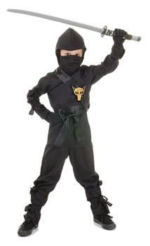 Ninja, Black Child Costume