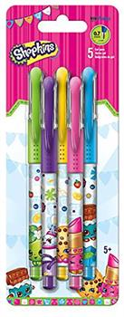 Shopkins Colored Gel Pens, 5 Pack