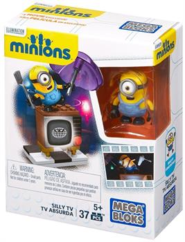 Minions Mega Bloks 37-Piece Construction Set, Silly TV