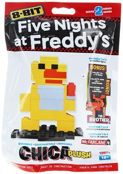 Five Nights at Freddy's 8-Bit Buildable Figure: Plush Chica