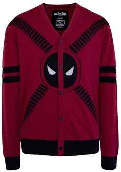 Deadpool 5 Button Adult Cardigan Sweater