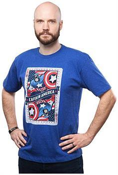 "Captain America ""Ace of Avengers"" Adult T-Shirt"