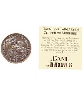 Game of Thrones Daenerys Targaryen Queen of Meereen Copper Coin