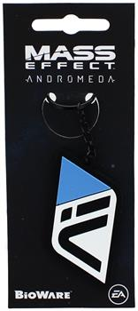 Mass Effect Andromeda Initiative Black Rubber Key Chain