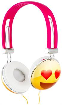 Emoji Overhead Stereo Headphones, Heart Eyes