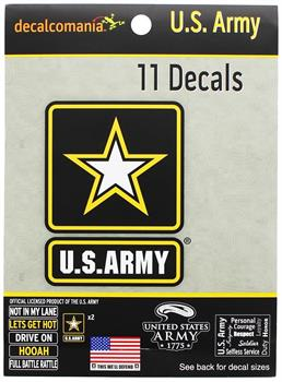 U.S. Army Decalcomania 11 Decal Pack