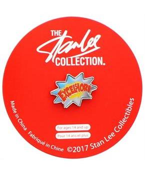 Stan Lee Excelsior Enamel Collector Pin