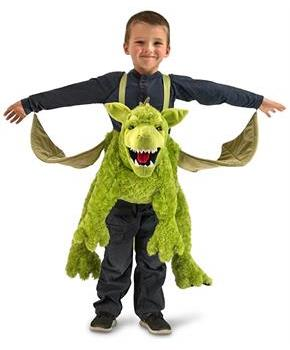 Green Ride-In Dragon One Size Fits Most Child Costume