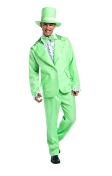 70's Funky Green Prom Wedding Tuxedo Costume Adult