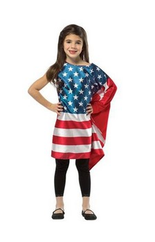 Flag Dress Costume Child: USA