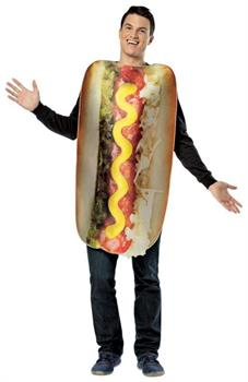Get Real Loaded Hot Dog Costume Adult