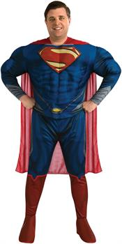 Superman Man Of Steel Deluxe Muscle Chest Costume Adult Plus