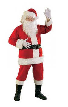 Deluxe Flannel Santa Suit Adult Costume