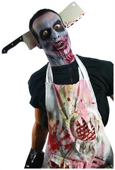 Zombie Cleaver through Head Costume Accessory