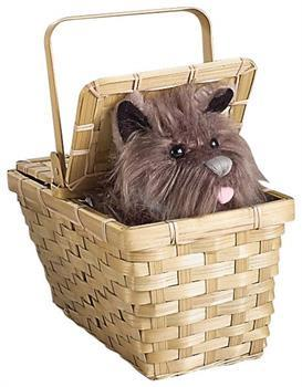 Wizard Of Oz Toto In Basket Deluxe