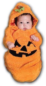 Boys Pumpkin Bunting Costume Infant - 0-6 Months for Halloween