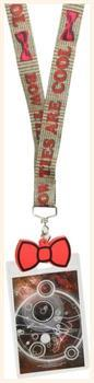 "Doctor Who Lanyard: ""Bow Ties Are Cool"" with 2D Bow Tie Charm"