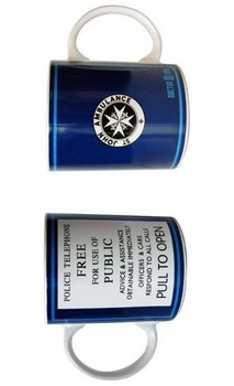 Doctor Who Tardis Police Telephone Ceramic Coffee Mug