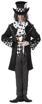 Dark Mad Hatter Alice Wonderland Adult Costume