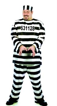 Jailbird Costume Adult Plus Size