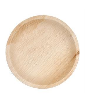 "Dtocs Natural Palm Leaf 7"" Round Disposable Party Plates, Chemical Free, Biodegradable and Eco Friendly."