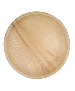 "Dtocs Natural Palm Leaf 9"" Round Disposable Party Plates, Chemical Free, Biodegradable and Eco Friendly."
