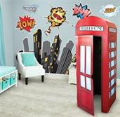 Superhero Comics Giant Wall Decal and Standup Kit