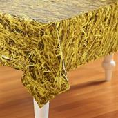 Straw Plastic Tablecover