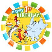 Dr. Seuss Favorites 1st Birthday Dinner Plates