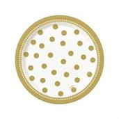 Golden Birthday Dessert Plates (8)