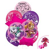 Pink Paw Patrol Girl Balloon Bouquet