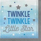 Twinkle Twinkle Little Star Blue Lunch Napkins