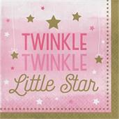 Twinkle Twinkle Little Star Pink Lunch Napkins