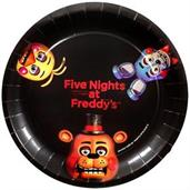 "Five Nights at Freddy's 9"" Dinner Plates (8)"