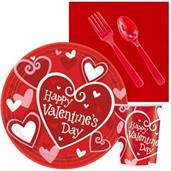 Valentine's Day Party Supplies & Decorations Red