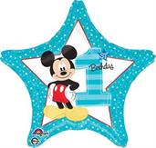 Disney Mickey Mouse 1st Birthday Foil Balloon