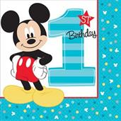 Disney Mickey Mouse 1st Birthday Lunch Napkins
