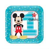 Disney Mickey Mouse 1st Birthday Dessert Plates