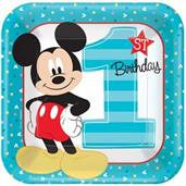 Disney Mickey Mouse 1st Birthday Dinner Plates