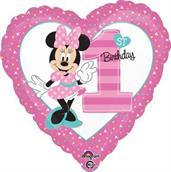 Disney Minnie Mouse 1st Birthday Foil Balloon