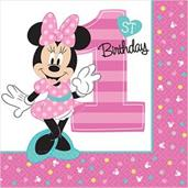 Disney Minnie Mouse 1st Birthday Lunch Npakins