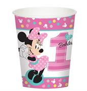 Disney Minnie Mouse 1st Birthday 9oz Paper Cups