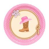 Western Cowgirl Party Dessert Plates
