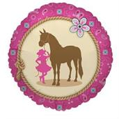 Western Cowgirl Party Foil Balloon