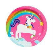 Fairytale Unicorn Party Dessert Plates