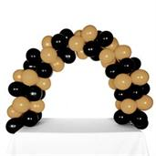 Celebration Tabletop Balloon Arch-Black & Gold