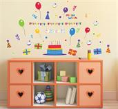 Birthday Party Small Wall Decal